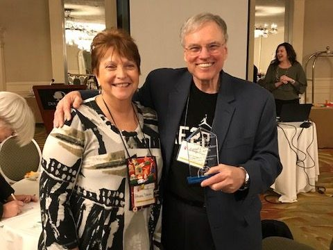 Dr. David Crenshaw with NYAPT Founder and Past President Emeritus, Dr. Athena Drewes.